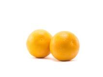 Dwa pomarańcze odizolowywająca Fotografia Royalty Free