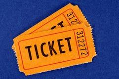 Dwa pomarańczowego bileta Zdjęcie Stock