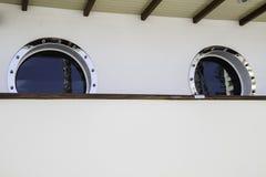 Dwa Porthole w statku Fotografia Royalty Free