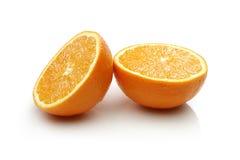 Dwa połówek pomarańcze Zdjęcie Royalty Free