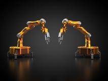 Dwa przemysłowego robota ilustracja wektor