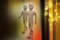 Dwa przyjaciela chodzą wpólnie ilustracja wektor