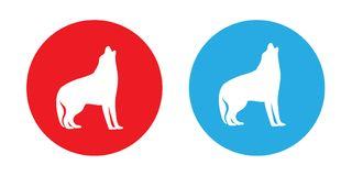 Dwa psiego loga Obrazy Royalty Free