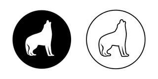Dwa psiego loga Fotografia Stock