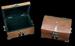 Dwa pudełka jewerly zdjęcia stock