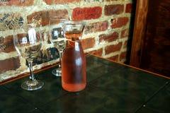 Dwa Pustego szkła wino Obrazy Royalty Free