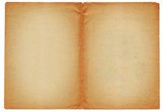 Dwa pustej antycznej strony Obrazy Stock