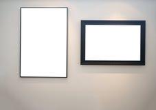 Dwa pustej obrazek ramy Zdjęcie Stock