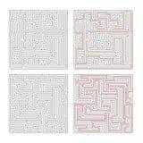 Dwa różnego labiryntu wysoka złożoność na bielu i rozwiązaniach royalty ilustracja