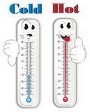 Dwa różnej twarzy termometry ilustracja wektor