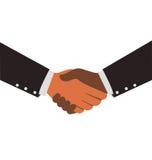 Dwa różnorodność biznesmena Trząść ręki ilustracji