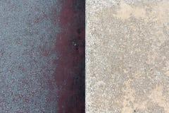 Dwa różnej tekstury w betonie Obrazy Stock