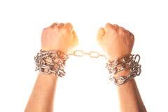 Dwa ręki w łańcuchach Obraz Stock