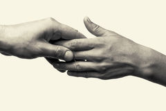 Dwa ręki - opieka Obraz Stock