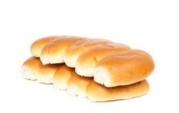 Dwa rzędu chlebowe rolki Zdjęcia Stock