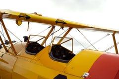 Dwa seater rocznika samolot obraz royalty free