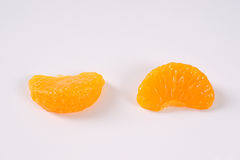 Dwa segmentu obrani tangerines Obraz Stock