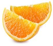 Dwa segmentu pomarańczowa owoc Fotografia Royalty Free