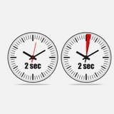 Dwa sekund zegar ilustracji