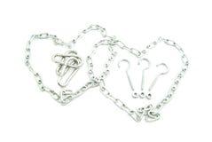 Dwa serca łańcuchy obrazy royalty free