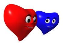 dwa serca royalty ilustracja