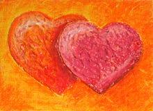 dwa serca Obraz Stock