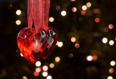 Dwa serca dla dwa zaludniają na valentines dniu fotografia royalty free