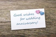 Ślubna rocznica Zdjęcia Royalty Free