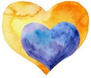 Dwa serca jeden w inny Obraz Royalty Free