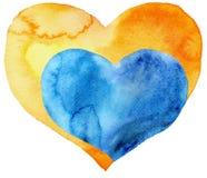 Dwa serca jeden w inny Zdjęcia Stock