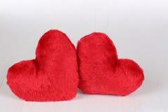 Dwa serca kochają temat na walentynki i matek dniu Obrazy Stock