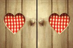 Dwa serca sprawdzać Obraz Royalty Free