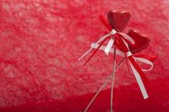 Dwa serca z faborkami Zdjęcie Royalty Free