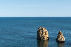 Dwa skały w oceanie Obraz Royalty Free