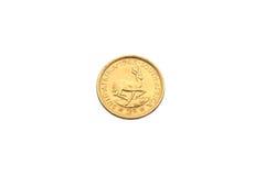 Dwa skrajów złocista moneta Zdjęcia Stock