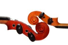 dwa skrzypce. Zdjęcie Royalty Free