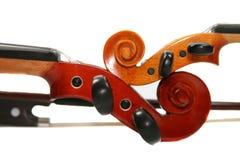 dwa skrzypce. Obrazy Royalty Free