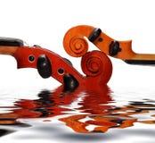 dwa skrzypce. Zdjęcia Royalty Free
