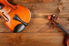 dwa skrzypce Zdjęcia Stock