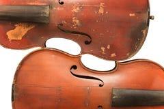 Dwa skrzypiec stary przygotowania odizolowywający obrazy royalty free