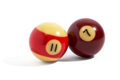 Dwa snooker piłki Zdjęcia Royalty Free