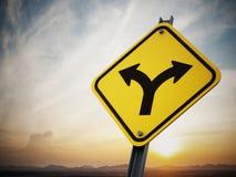 Dwa sposobów drogowy znak Obraz Stock