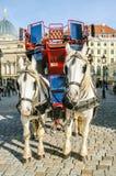 dwa sprzężni frachtów konie Zdjęcie Stock