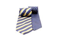 Dwa staczającego się krawata Fotografia Stock