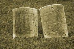 dwa stare nagrobka Fotografia Stock