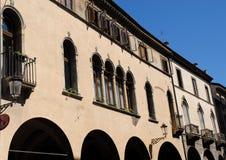 Dwa starego budynku w centrum Padua w Veneto (Włochy) Zdjęcia Stock
