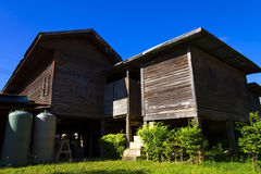 Dwa starego domowego drewniany Zdjęcie Royalty Free