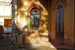 Dwa starego drzwiowego drewniany Obrazy Stock