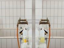 Dwa starego obmycie basenu w laboratorium obraz royalty free
