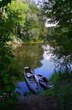 Dwa starej drewnianej łodzi Zdjęcie Stock